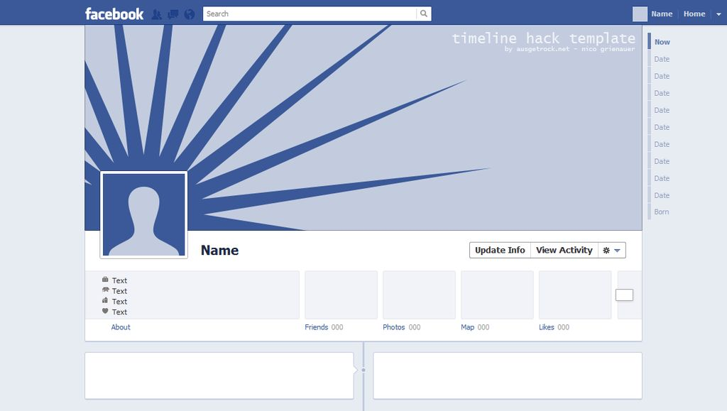 ADAPTATION OF FACEBOOK TIMELINE COVER UND AVATAR WITH A TEMPLATE ...
