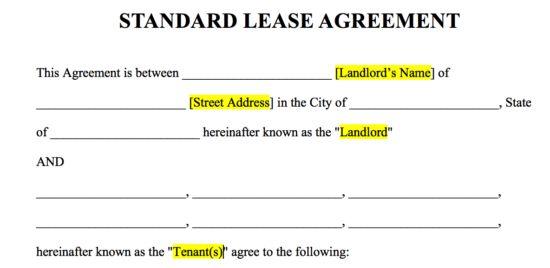 Free Rental Lease Agreement Templates - Residential & Commercial ...