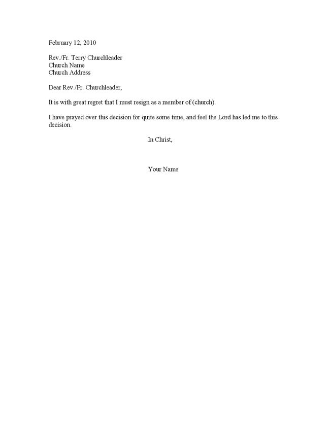 Download Board Member Resignation Letter Sample ...