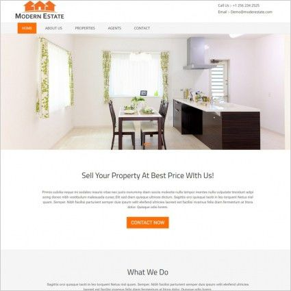 Real estate website template free website templates for free ...