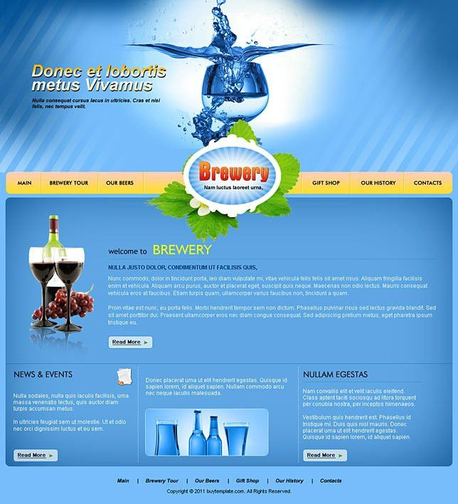 Best html css templates for brewery websites