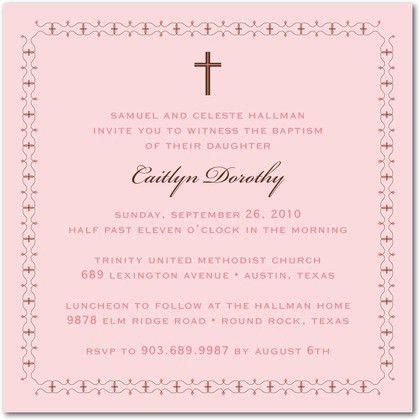 Baptism Invite Wording | christmanista.com