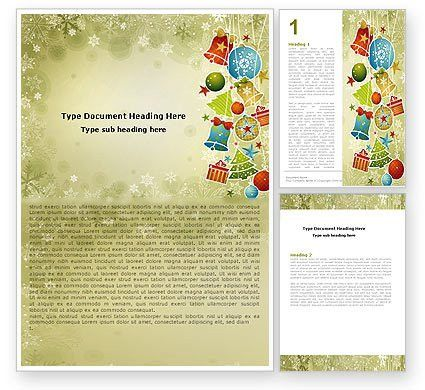 Christmas Holiday Theme Word Template 07273 | PoweredTemplate.com