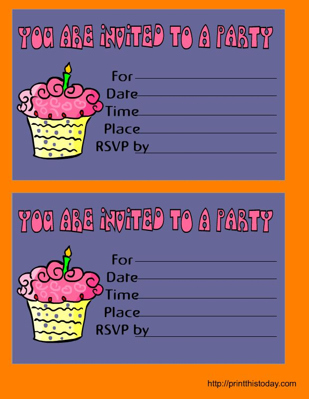 12+ free printable birthday invitations templates | artist resume