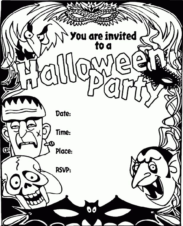 Free Halloween Printable Invitation Templates – Fun for Halloween