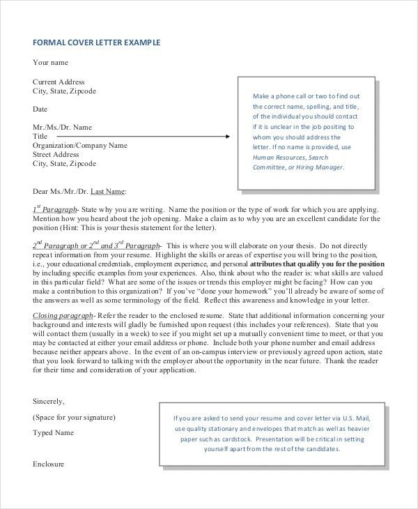 cover letter format free