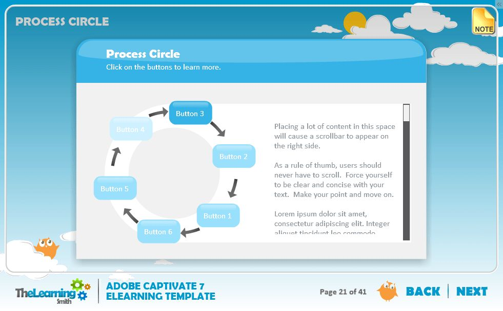 The Learning Smith | Captivate 7 eLearning Template