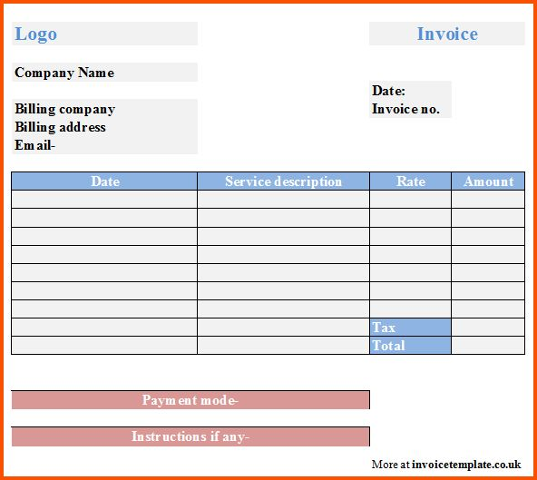 11+ sample invoice for services | Survey Template Words