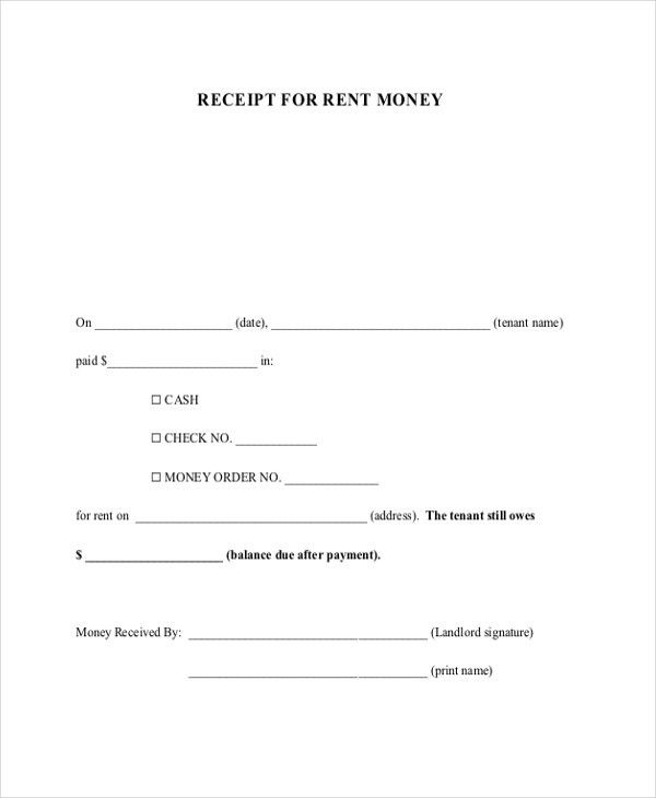 Sample Receipt of Payment Form - 7+ Free Documents in PDF