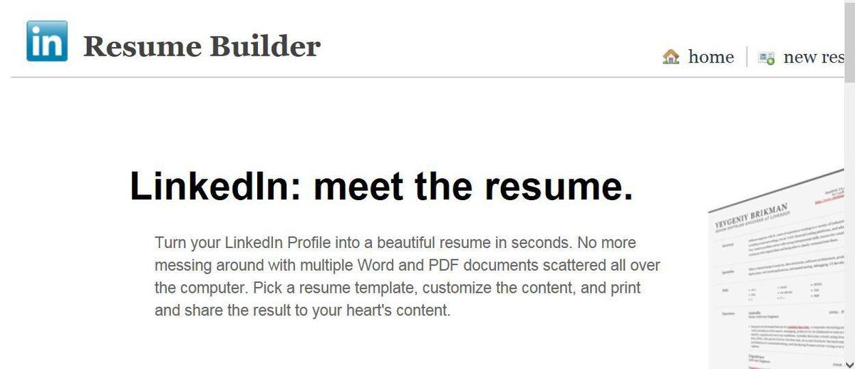 Linkedin Resume Builder | haadyaooverbayresort.com
