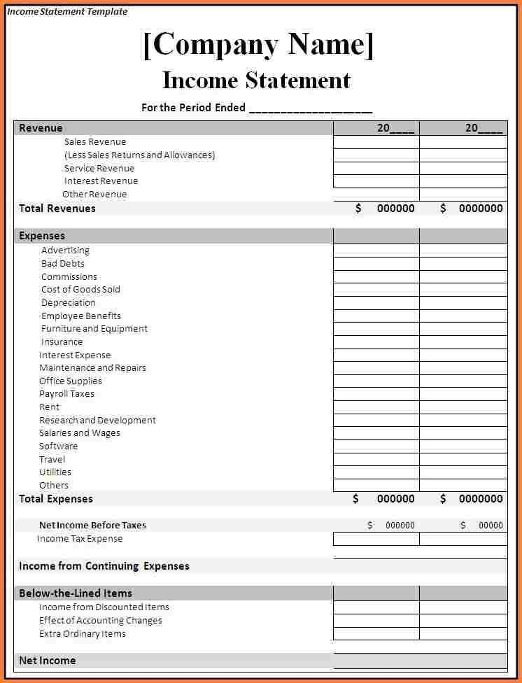7+ free profit and loss statement template | Statement Synonym