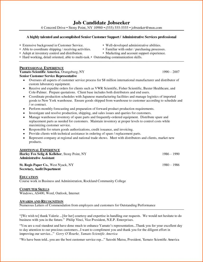 Awesome Inspiration Ideas Customer Service Representative Resume ...