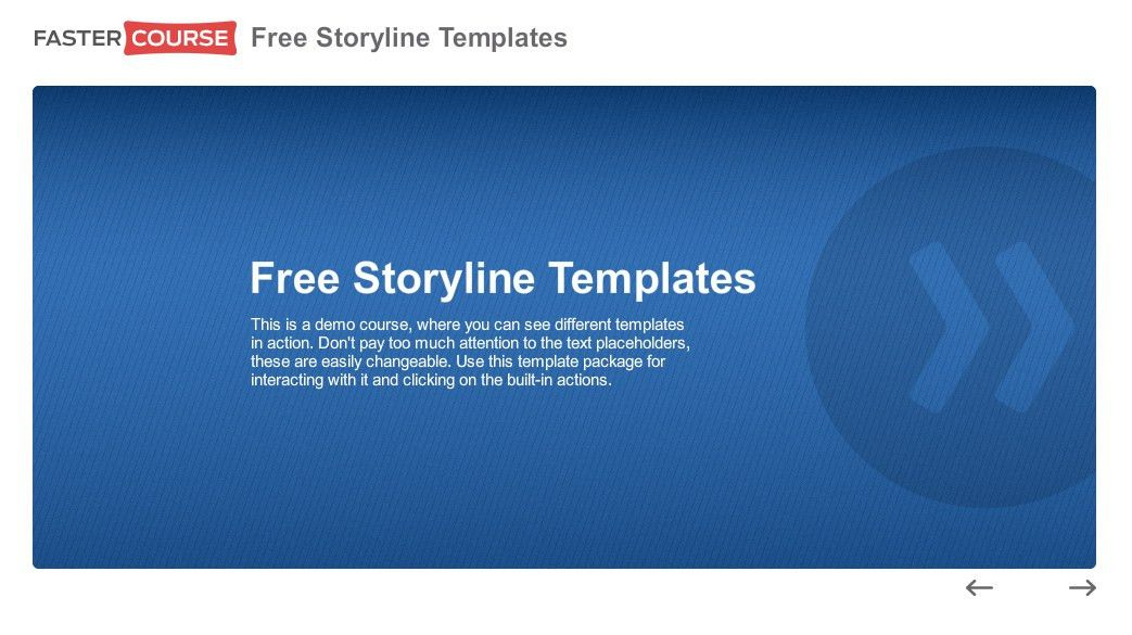 Free Articulate Storyline templates - download now