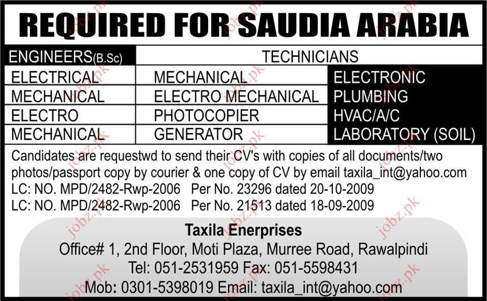 Electrical, Mechanical Engineer, Photocopier Technician Jobs 2017 ...