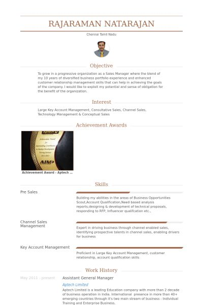 Assistant General Manager Resume samples - VisualCV resume samples ...