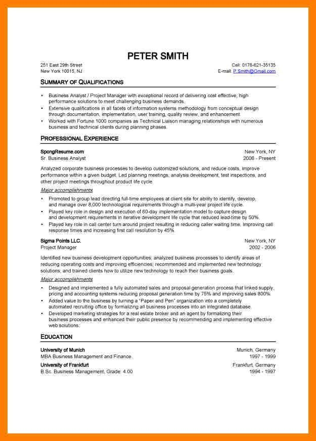 standard format resume. full size of resumeresumebuildercom free ...