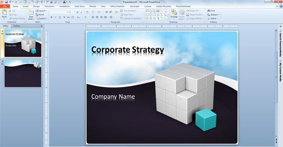 Free Business PowerPoint Template with Animated Clouds Video and ...