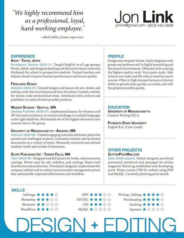 27 best Indesign Resume Templates images on Pinterest | Resume ...