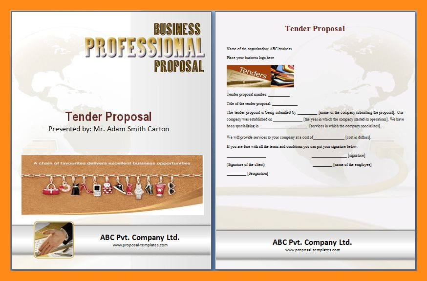 5+ tender submission template | actor resumed