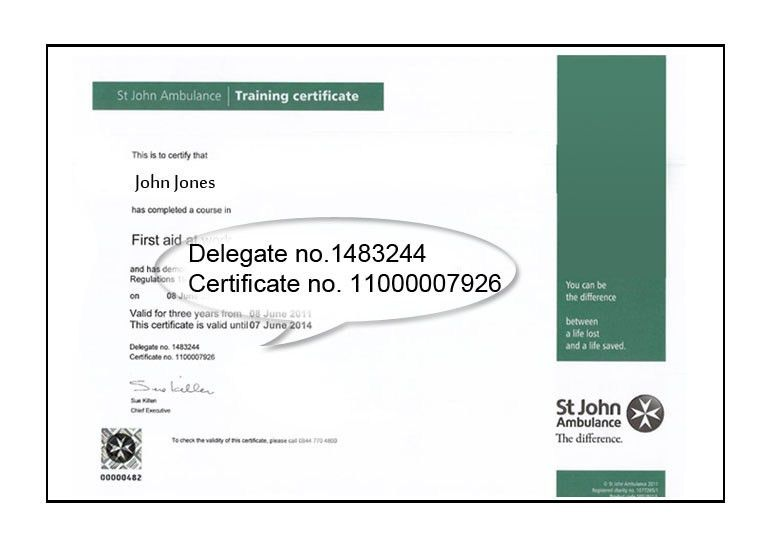 Check Your Course Certificate - St John Ambulance