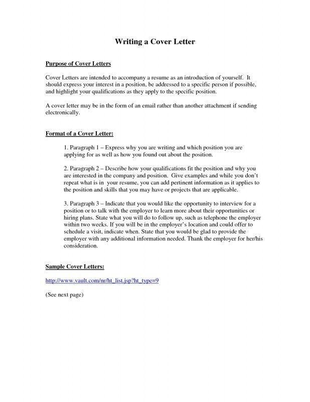 Cover Letter Purpose - Resume Templates