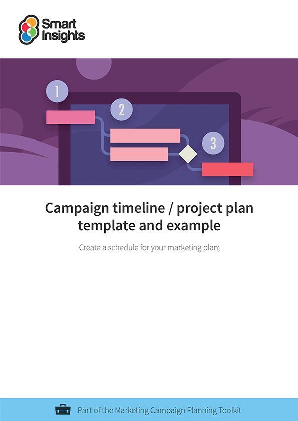 Campaign timeline / project plan template and example | Smart Insights