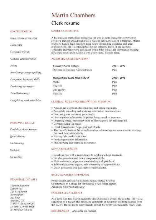 Sample Resume For Working Students With No Work Experience ...