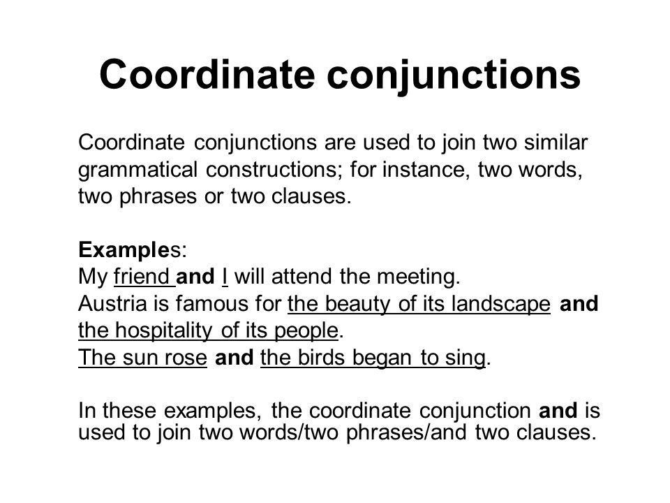 CONNECTORS A conjunction may be used to indicate the - ppt video ...