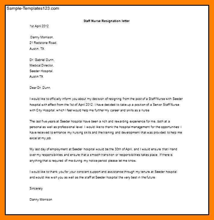 4+ employees example of resignation letter for nurses | emt resume