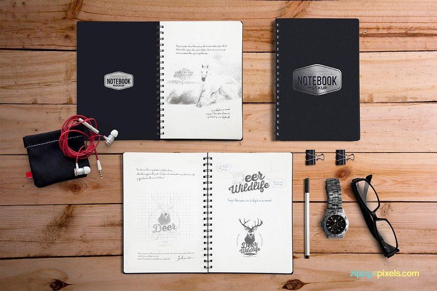 28+ Notebook Mockups | Free & Premium Templates