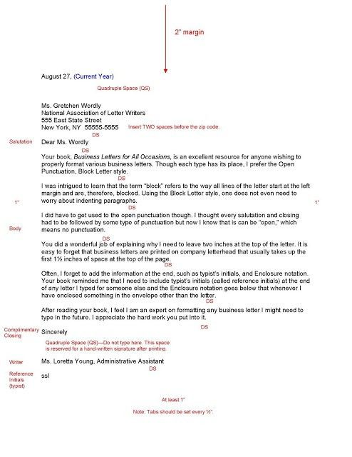 Best Photos of Sample Business Letter Format Spacing - Business ...