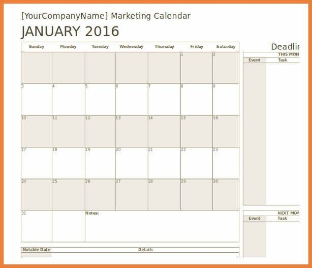 marketing calendar template | sop proposal