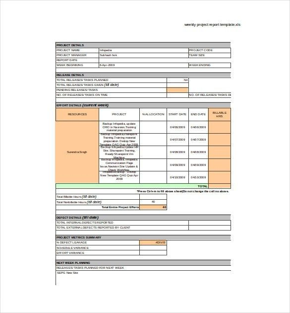 Weekly Report Template – 10+ Free Word, Excel, PDF Documents ...