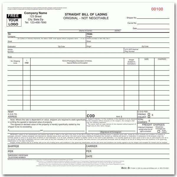 3+ bill of lading formsReport Template Document | report template