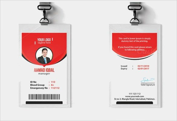 ID Card Template - 60+ Download in PSD, PDF, Word