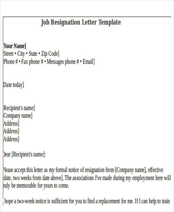Rude Resignation Letter Template - 5+ Free Word, PDF Format ...