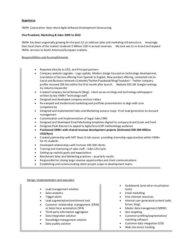marketing manager resume objective project manager resume