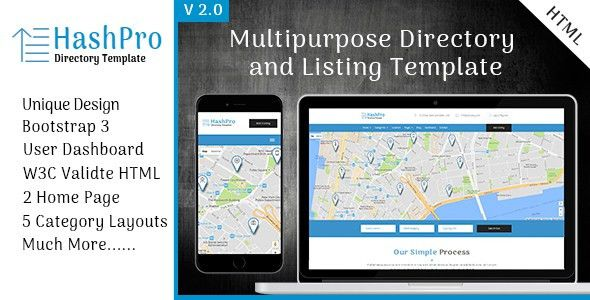 HashPro Listing and Directory Template by scriptsbundle | ThemeForest