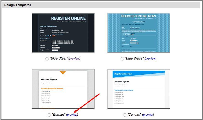 Design templates - Webconnex 3.0