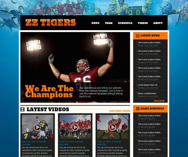 18 Free Sports HTML Website Templates | TemplateMag