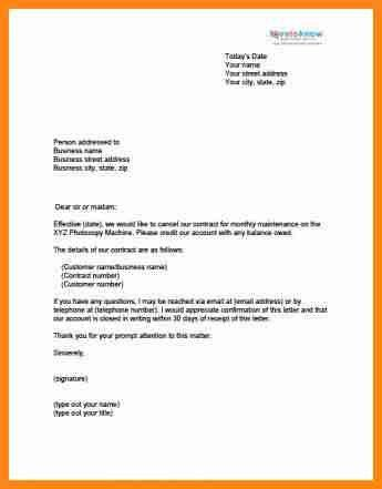 5+ contract termination letter format | driver-resume
