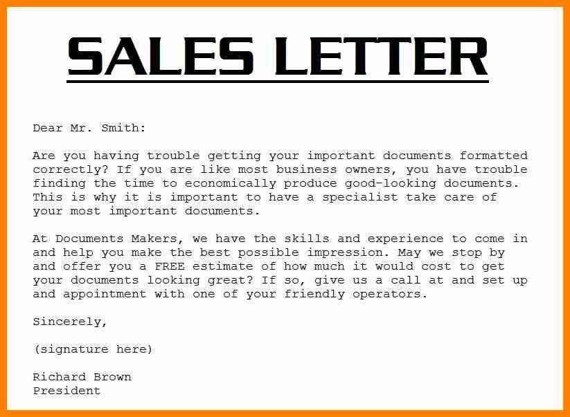 10+ examples of sales letter | buyer resume