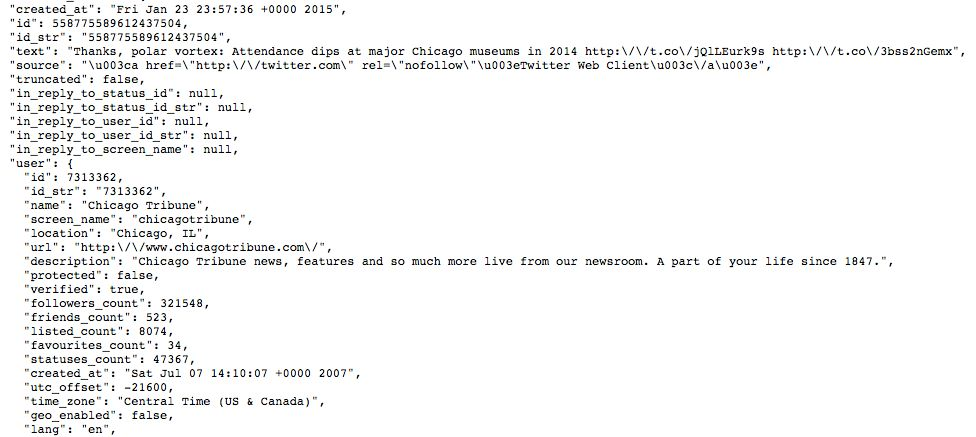 Collecting Twitter Data: Converting Twitter JSON to CSV — ASCII