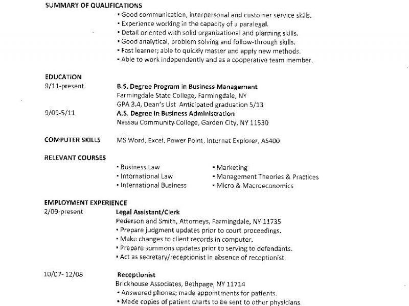Incredible Examples Of College Resumes 10 Student Summer Job ...
