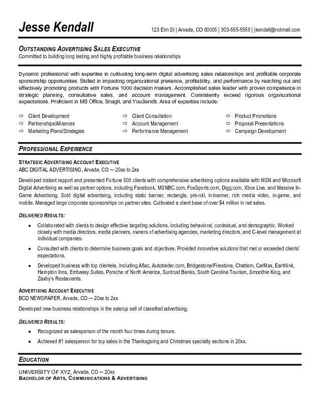Radio Account Executive Cover Letter