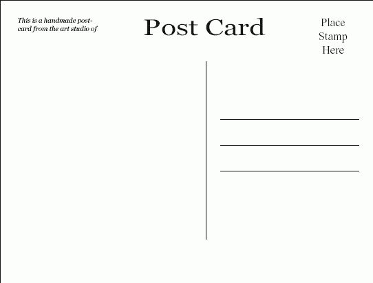 10+ free postcard template - LetterHead Template Sample
