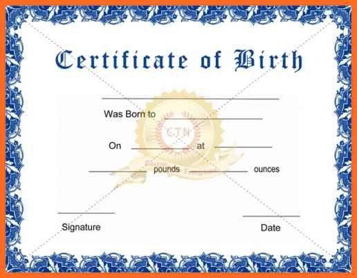 Best Online Birth Certificate Maker Gallery - Best Resume Examples ...