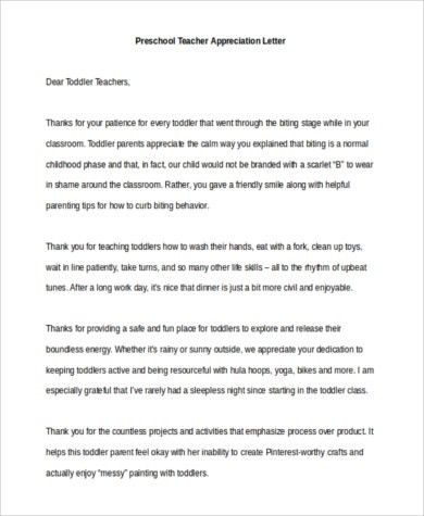 Thank You Letter To Teachers. 11+ Thank You Letters To Teachers 11 ...