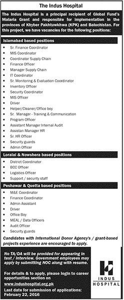Finance Coordinator MIS Coordinator Finance Officer Manager Supply ...