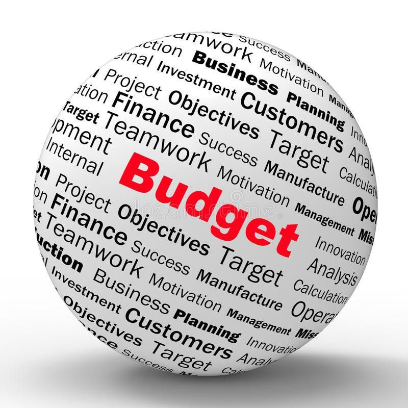 Budget Sphere Definition Shows Financial Management Or Business ...